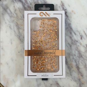 Casemate Rose Gold IPhone X Case